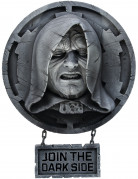 Palpatine aus Star Wars - Wand-Dekoration - grau-schwarz