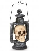 Halloween Laterne mit Totenkopf bunt