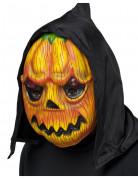 Halloween-Gesichtsmaske Kürbis orange-grün-schwarz