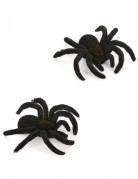 Spinnen Halloween Deko 2er-Set schwarz 10cm