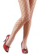 Damen-Netzstrumpfhose rot