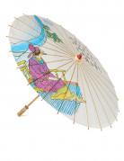 Chinesischer Sonnenschirm weiss-bunt 85cm