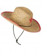 Cowboyhut Kinder-Hut Sheriff beige-rot
