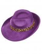 Zuhälter-Hut lila
