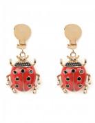 Marienkäfer Ohrringe Ohrschmuck für Erwachsene rot-schwarz