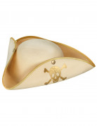 Piratenhut Dreispitz gold-beige