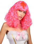 Fantasy Damenperücke lockig rosa