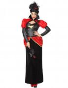 Aristokratische Vampir-Lady Halloween Kostüm für Damen rot-schwarz
