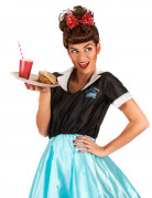 50er Jahre Rockabilly Retro Damenperücke braun