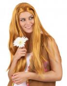 Langhaarige Hippie Damen-Perücke rotblond