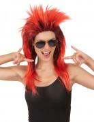 Rocksängerinnen-Damenperücke rot