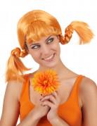 Verrückte Zopf-Perücke orange