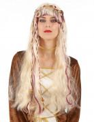 Mittelalterliche Damen-Perücke blond-bordeaux
