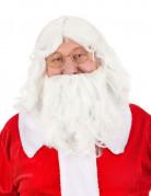 Weihnachtsmann Perücke mit Bart weiss