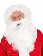Weihnachtsmann-Perücke mit Bart für Erwachsene weiss