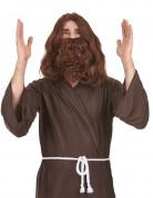 Heiliger Prophet Herrenperücke mit Bart braun