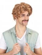Retro 80er Herrenperücke blond