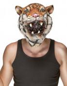 Tiger Latex-Maske braun-weiss-schwarz