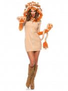Süsser Löwe Damenkostüm beige-orange