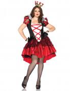 Märchen Königin Damenkostüm übergrösse rot-schwarz-weiss