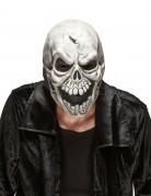 Schädel Maske Halloween Kostümaccessoire weiss-grau