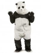 Panda Kostüm Overall schwarz-weiss