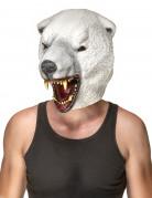 Tiermaske Eisbär aus Latex weiss-grau