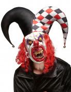 Joker Maske Latex Kostümzubehör rot-schwarz-weiss