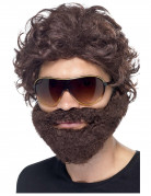 Perücke und Bart braun