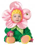 Kostüm Blumen für Babys Premium rosa-grün-gelb