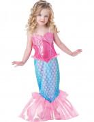 Meerjungfrau Kinderkostüm Nixe pink-blau