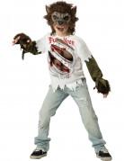Werwolf-Kostüm für Kinder Halloween-Kostüm weiss-braun