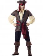 Verwegener Pirat-Kostüm Seeräuber braun-beige