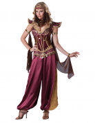 Orientalische Prinzessin Deluxe Damenkostüm Harem bordeaux-gold