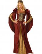 Renaissance-Damenkostüm Burgfräulein-Kostüm rot-gold