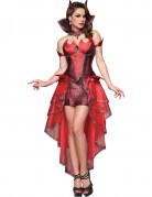Sexy Teufelskostüm für Damen rot