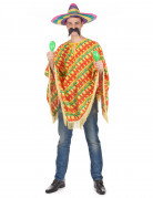 Mexikanischer Poncho Erwachsene bunt