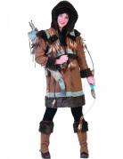 Eskimo-Kostüm Damen braun