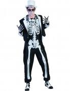 Dia de los Muertos Skelett-Gentleman Halloween Kostüm schwarz-weiss