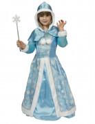 Bezaubernde Schneekönigin Kinderkostüm blau-weiss