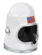 Astronauten-Helm Raumfahrer-Kopfbedeckung USA weiss