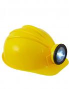 Bauarbeiterhelm für Erwachsene gelb
