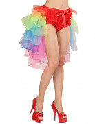 Tutu mit Schleppe Kostümzubehör bunt 55cm