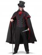 Serienmörder Halloween Herrenkostüm schwarz-rot
