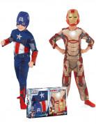Kostüm-Set Captain America™ und Iron Man™ Kinderkostüme bunt