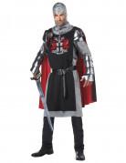 Mittelalterlicher Ritter Krieger Kostüm schwarz-silber