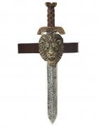 Römisches Gladiator-Schwert mit Halterung silber-gold