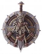 Wikinger Waffen-Set Schild und Schwert silber-gold-braun 2-teilig ca. 50cm