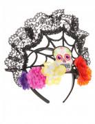 Tag der Toten Sugar Skull Krone schwarz-bunt