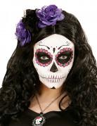 Edler Haarreif mit Rosen Haarschmuck schwarz-lila